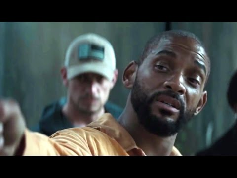 Suicide Squad movie scene - Deadshot shows his ability