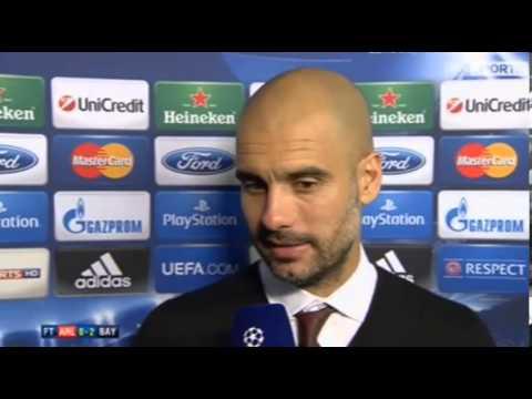 Arsenal 0 Bayern 2 : Pep Guardiola Post Match Reaction