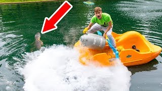 FREEZING POND MONSTER WITH LIQUID NITROGEN!!