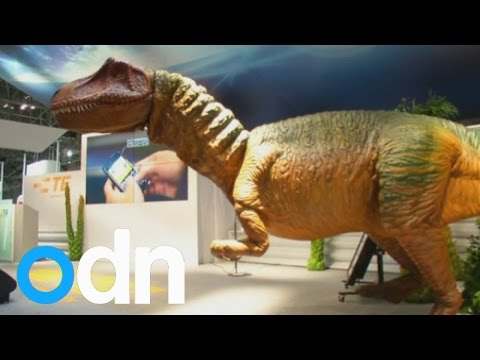 Dinosaur, human and ping pong robots at Japan's Ceatec tech show