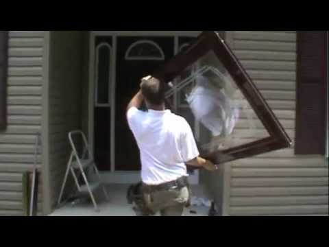 How to install a larson storm door youtube for Storm window installation