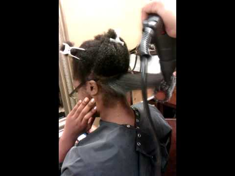 Taidee Dominican Salon - Natural Hair Blow-out and Straightening