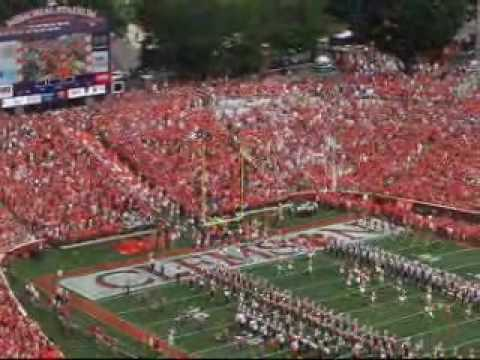The entrance of the Clemson Tiger football team into Death Valley.