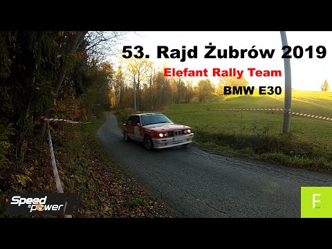 53. Rajd Żubrów 2019 Elefant Rally Team BMW E30 (Speed & Power)