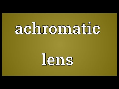 Header of achromatic lens