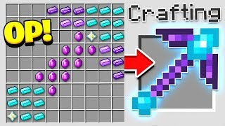 HOW TO CRAFT A $1,000 PICKAXE! *OVERPOWERED* (Minecraft 1.13 Crafting Recipe)