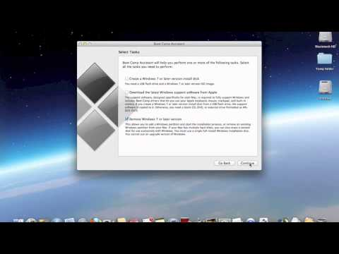 How to delete Boot Camp on OS X 10.8 Mountain Lion