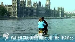Amphibious Water Scooter Ride on the Thames (1960s) | British Pathé