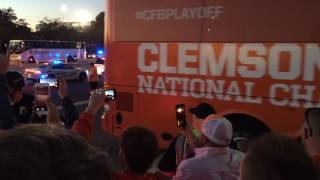 National Championship Clemson team buses
