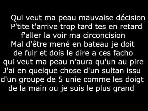 Sultan Feat Youssoupha, R.E.D.K & Canardo - Qui Aura Ma Peau (Parole)