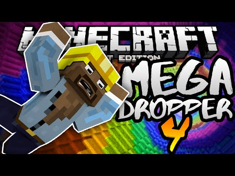 EPIC DROPPER MINIGAME in MCPE!!! - Mega Dropper 4 Custom Map - Minecraft PE (Pocket Edition)