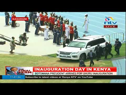 Presidents Salva Kiir (South Sudan), Ian Khama (Botswana), Edgar Lungu (Zambia) arrival