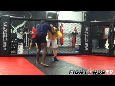 Phil Davis wrestling drills and techniques prepares for Rashad Evans Image 1