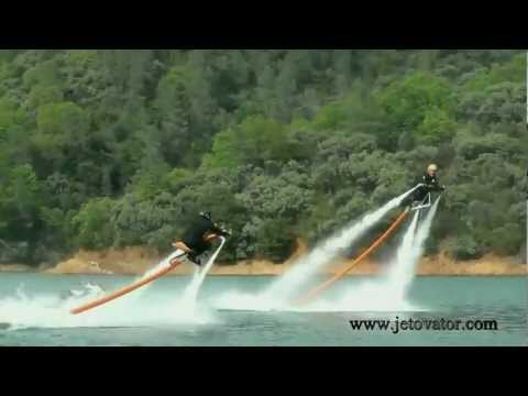 Jetovator. Flying. water-powered bike