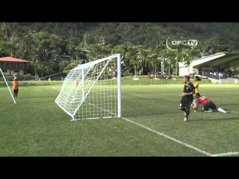2013 OFC Champions League Preliminary MD2 Pago Youth C vs Tupapa Maraerenga FC Highlights