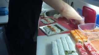 Роллы 16 порций за 17,5 минут