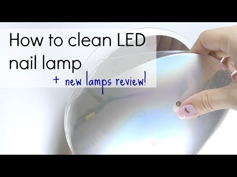 LED / UV gel nail lamp : how to use. choose & clean   New lamps review