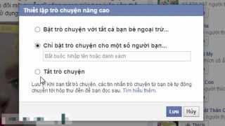 Mẹo Facebook : thiết lập bạn bè có thể thấy bạn online trên Facebook