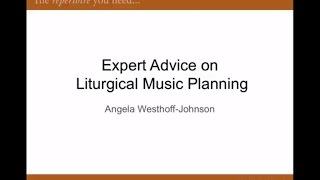 Expert Advice on Liturgical Music Planning
