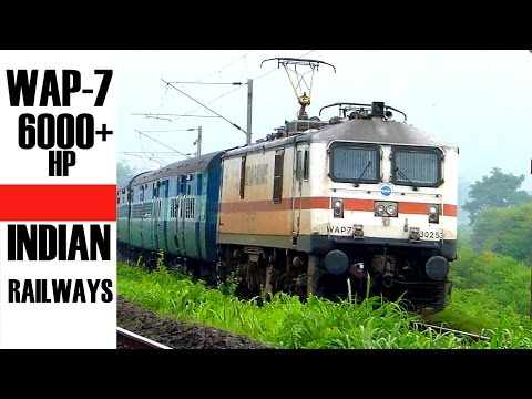 WAP7 ! INDIA's Most Powerful Passenger ELecTRiC LoCoMOTIVE hauled trains of INDIAN RAILWAYS !!