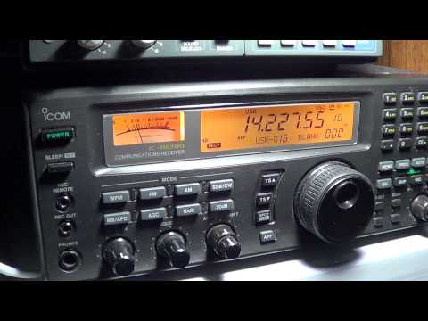 VA6POP Amateur Radio 20 meters on Icom IC R8500