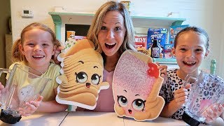 Smoothie Challenge w/ Shopkins Real Littles Toys!