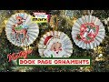 Vintage Book Page Ornaments