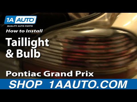 How To Install Replace Taillights and Bulb 97-03 Pontiac Grand Prix 1AAuto.com