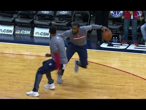 John Wall Shows Off Handles In Pre-Game Warmups