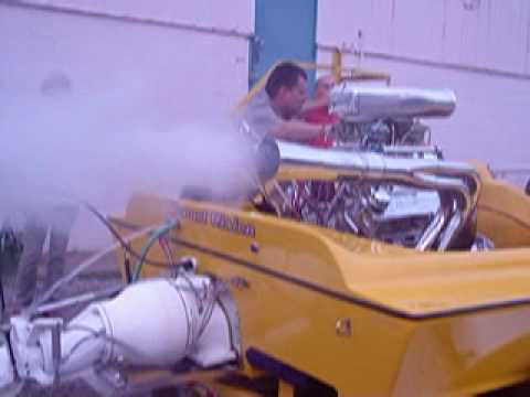 496 Cubic Inch Big Block Chevy Blower Motor in a Boat!!