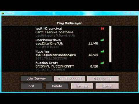 Minecraft Creative Servers, list of IP addresses