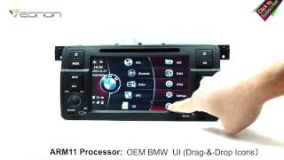 Eonon D5150 BMW E46 Car DVD GPS with OEM BMW UI & ARM Processor & NFC URC (Upgraded D5113)