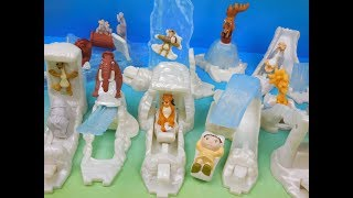 2002 ICE AGE SET OF 10 BURGER KING KIDS MEAL MOVIE TOYS VIDEO REVIEW
