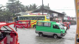 Flood in Butuan City Montilla Boulevard Jan. 10, 2013