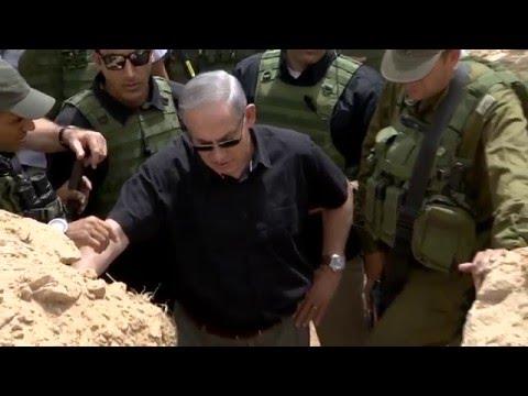 PM Netanyahu Visits Hamas Terror Tunnel Near Gaza
