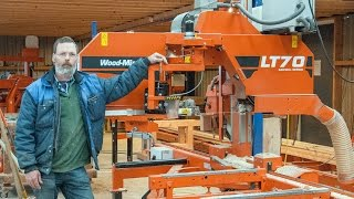 LT70 sawmill cuts timber frames in the Netherlands