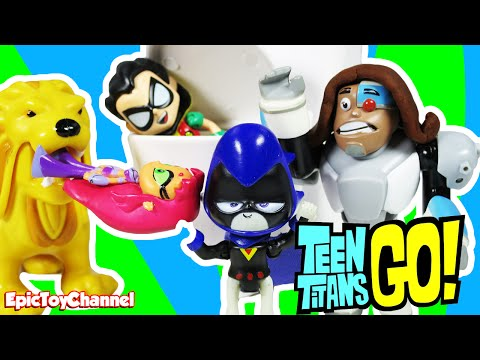 "TEEN TITANS GO! Parody ""Robin Can't Remember Anything and Cyborgs Mom Gives Advice"" Toy Video"