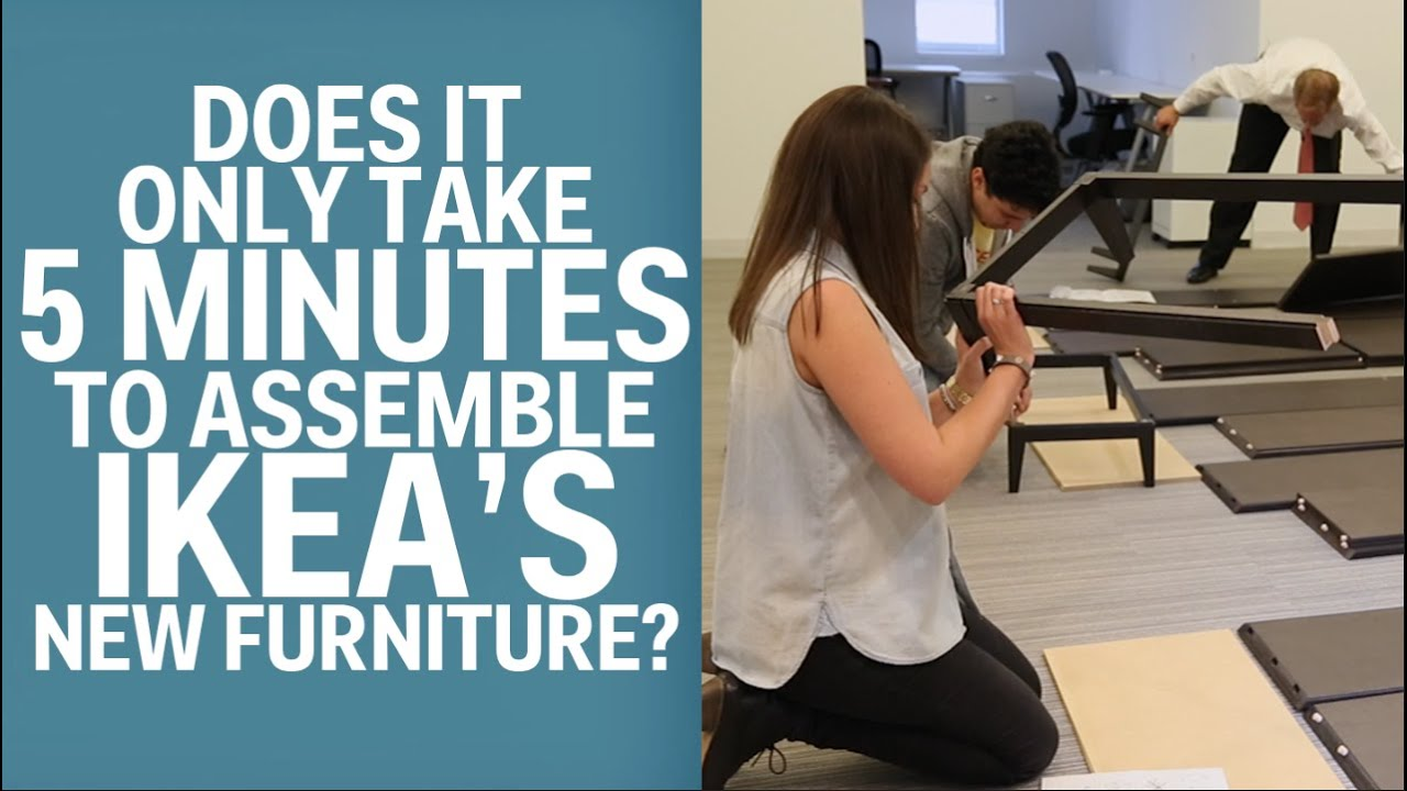 Ikea says its new furniture takes only 5 minutes to for Someone to assemble ikea furniture
