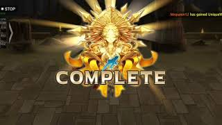 King's Raid - Guild Raid Nubis Hell Mode - Ophelia spread Fortune for us :D