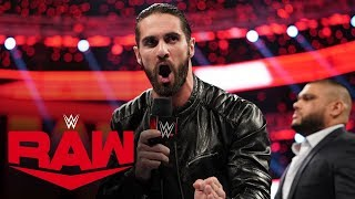 Seth Rollins says AOP will enforce his will for the future: Raw, Dec. 16, 2019