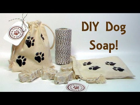 DIY Dog Soap with Moisturizing Oatmeal, Tea Tree Oil and Lavender