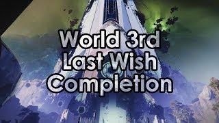 Destiny 2: World's 3rd Last Wish Raid Completion - All Bosses & Kills
