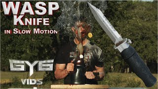 WASP Injection Knife - vs - STUFF [In Slow Motion]
