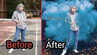 How to edit cool photos on the Android picsart | present
