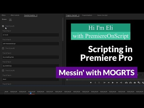 Messin' with MOGRTs | Importing and Modifying