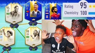 9 YEAR KID TOTS 195 RATED FUT DRAFT!! LITTLE BROTHER FUT DRAFT CHALLENGE (FIFA 19)