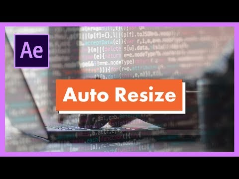 How to make a Rectangle Self-Resize to Text Size in Adobe After Effects CC (Lesson 1)