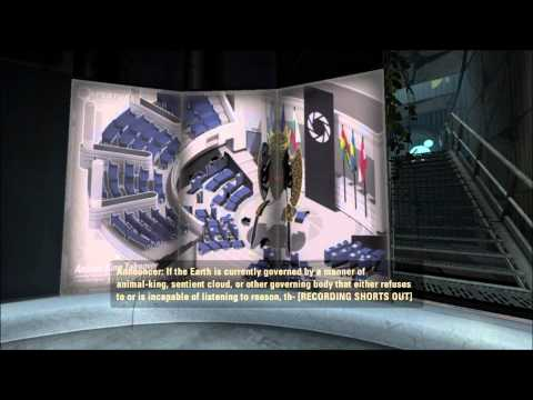 Portal 2: Walkthrough - Part 2 (Chapter 1 Lvl. 1-2) [1080p HD] (PS3/X360/PC) (Gameplay)
