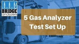 5 Gas Analyzer Emissions Test Set Up