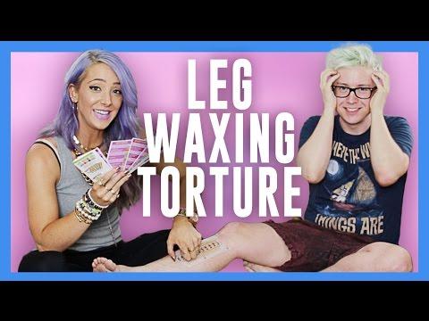 Leg Waxing Torture (ft. Jenna Marbles) | Tyler Oakley